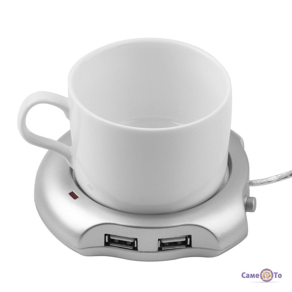 USB хаб - подставка нагреватель под чашку