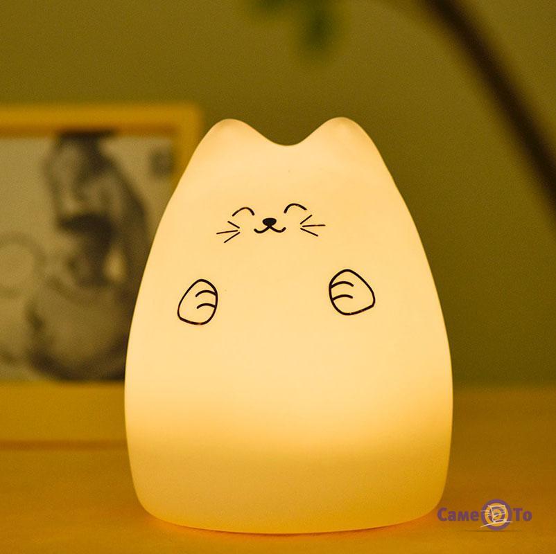 Светодиодный LED светильник-ночник в детскую комнату Кошечка