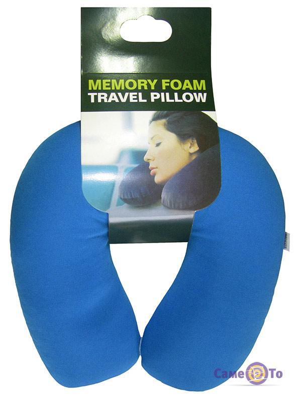 Дорожная подушка-подголовник для путешествий Memory Foam Travel Pillow