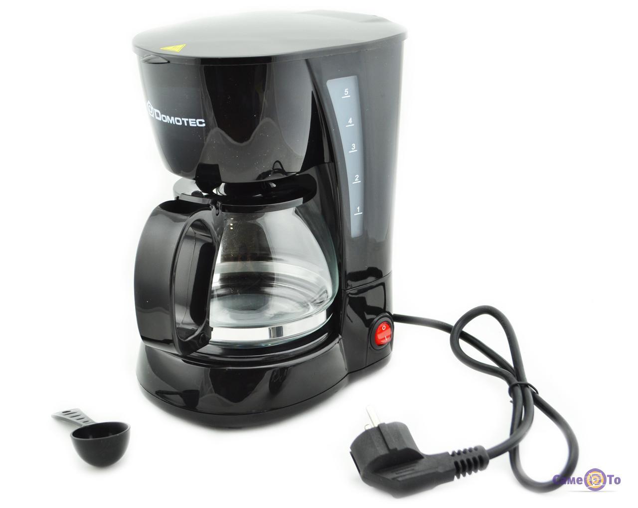 Электрическая кофеварка капельного типа Domotec MS-0707, 650 W