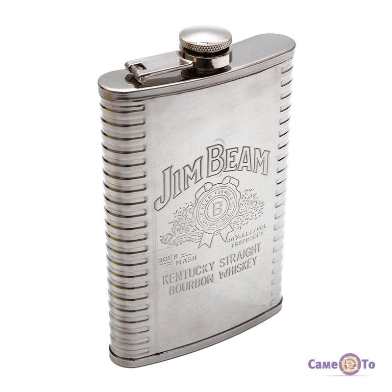Плоская карманная фляга для алкоголя Jim Beam