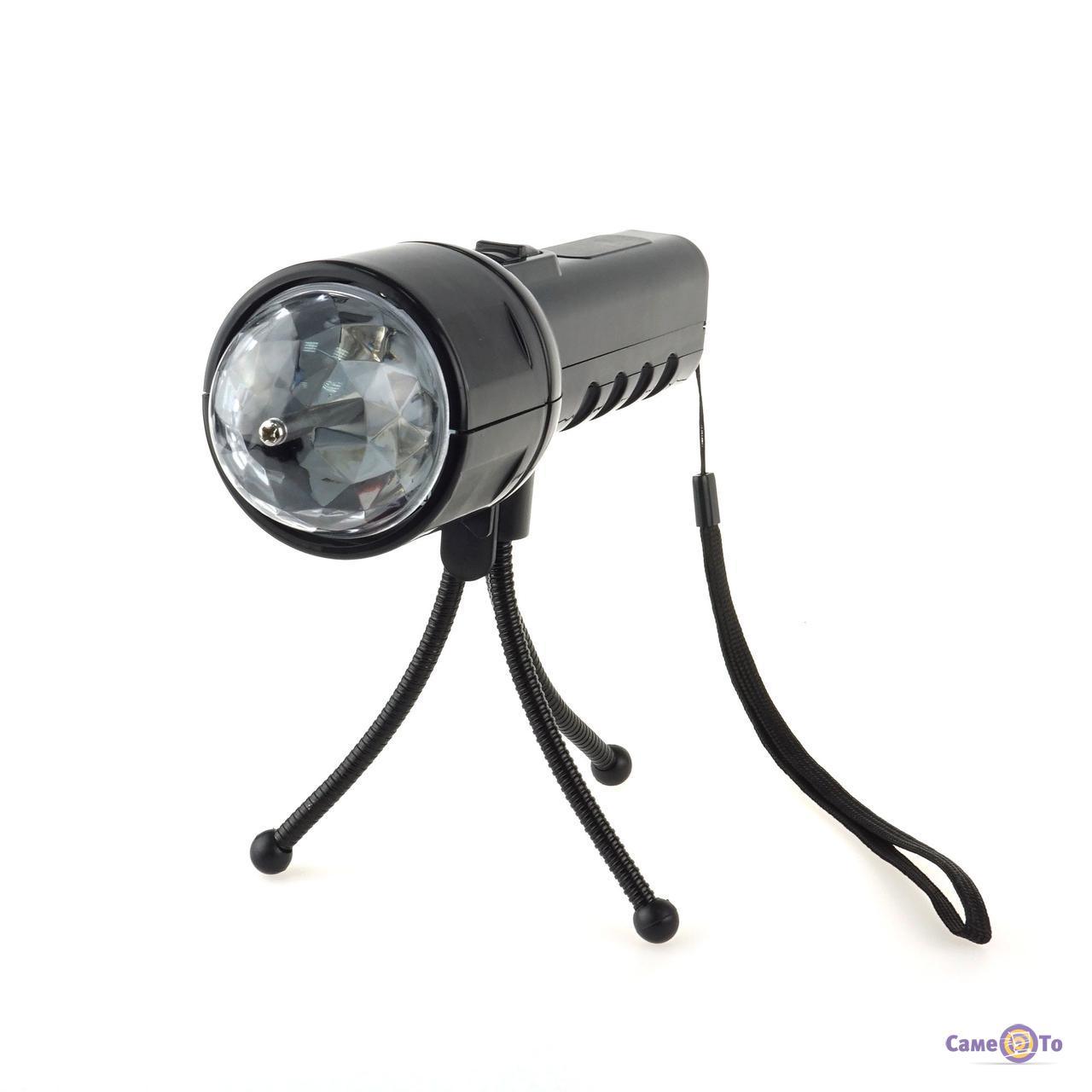 Портативный проектор-фонарик со штативом - светомузыка для дома