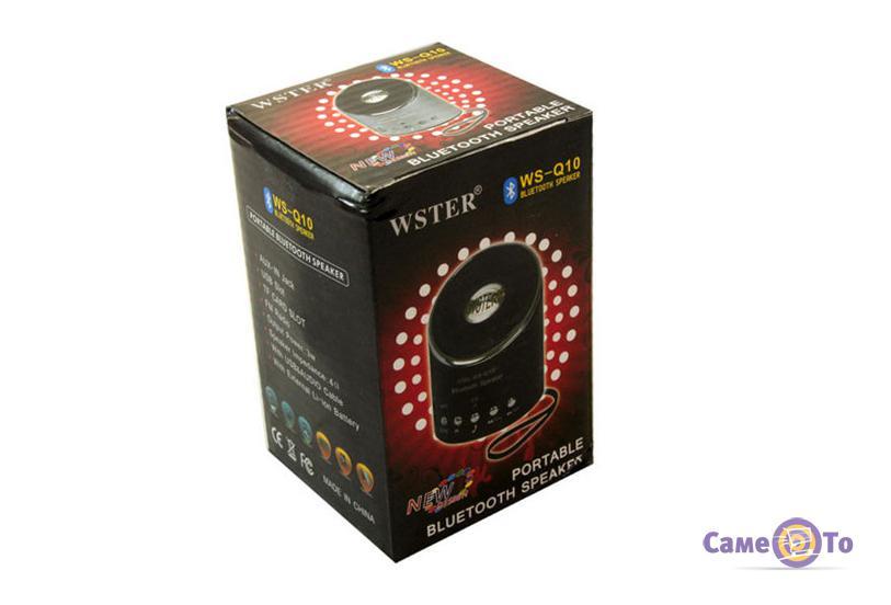 Портативная Bluetooth колонка с радио WSTER WS-Q10