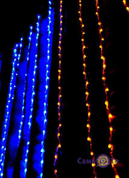 Двухцветная светодиодная гирлянда 360 Led