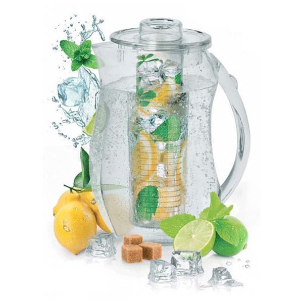 Графин для воды (кувшин) - сосуд с крышкой для хранения напитков, 2.5 л