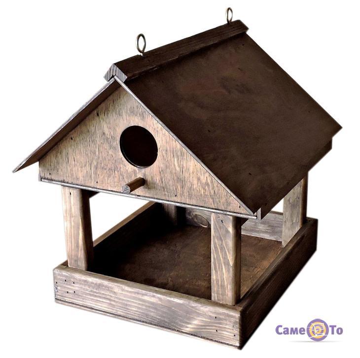 """Деревянная кормушка для птиц - домик для синичек """"Горихвостка"""""""
