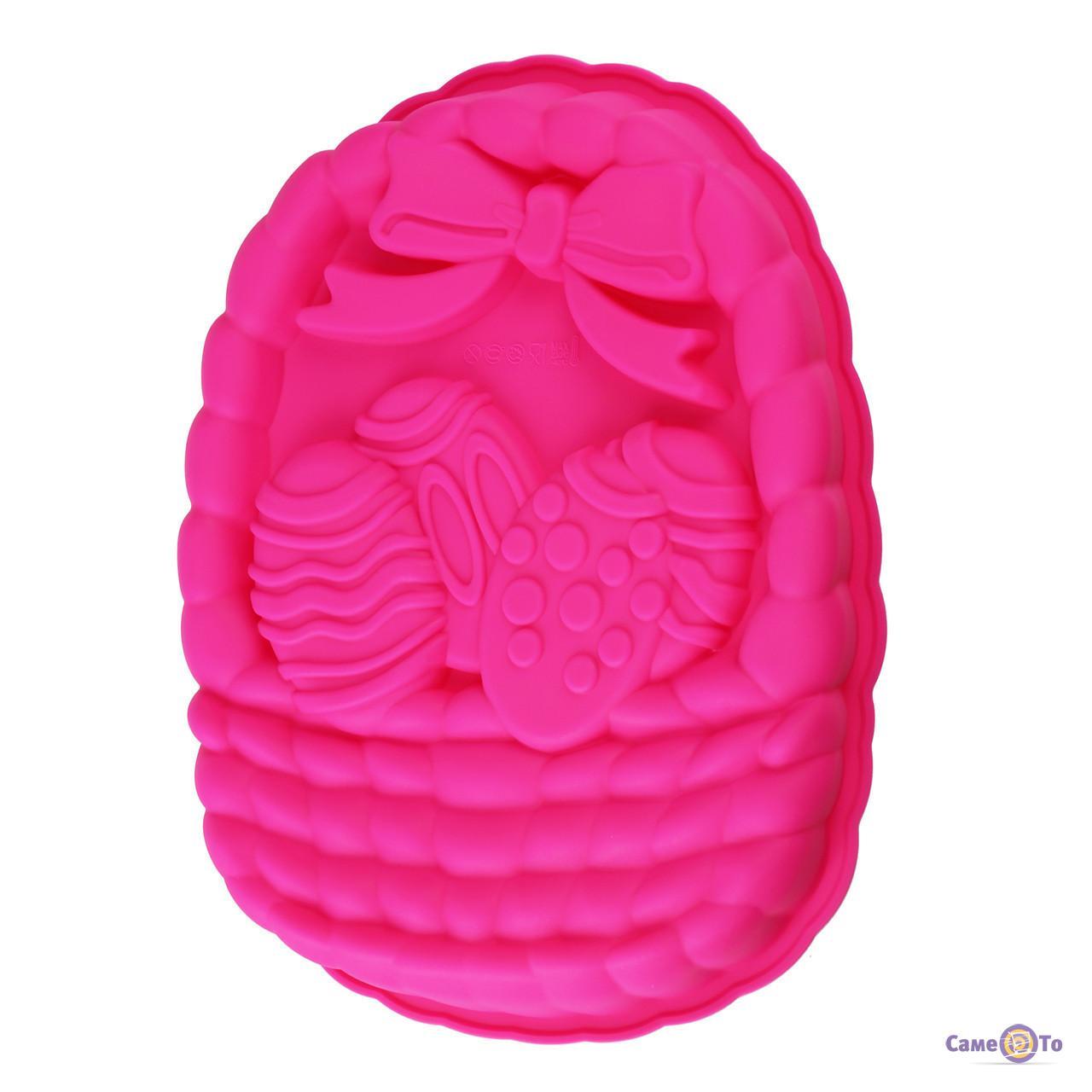 """Силиконовая форма для кексов """"Пасха"""" - форма для пасхи, розовая"""