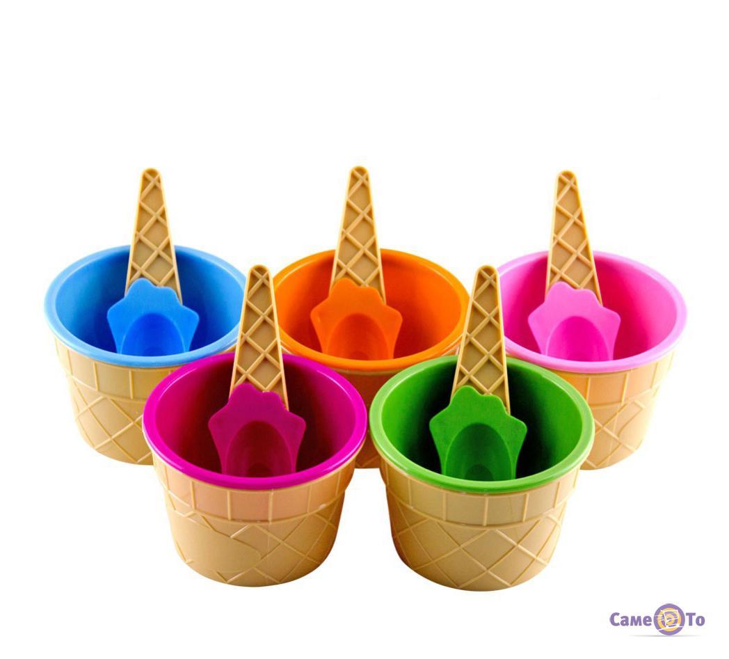 Морожениця з ложечкою (креманка для морозива) Happy Ice Cream