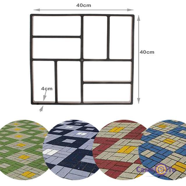 Форма для создания тротуарной плитки и садовых дорожек, 40x40, прямая