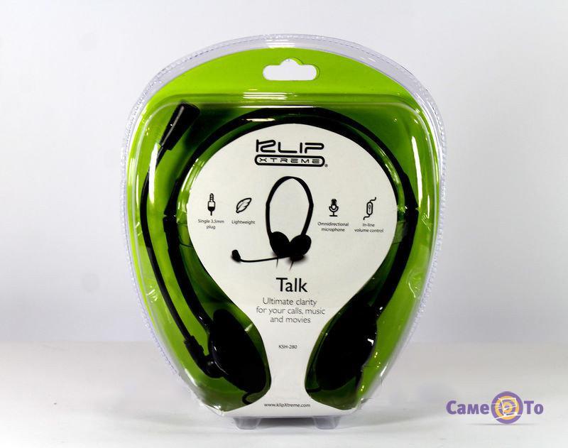 Наушники-гарнитура с микрофоном Klip Xtreme Talk KSH-280