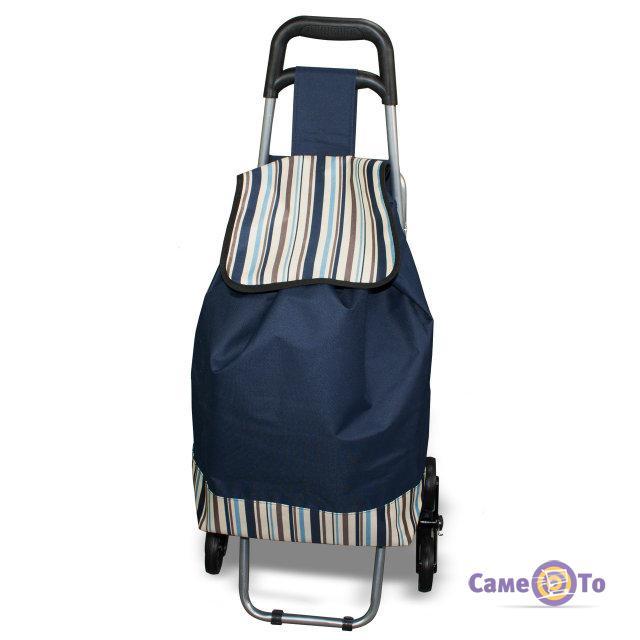Сумка тележка хозяйственная со стульчиком