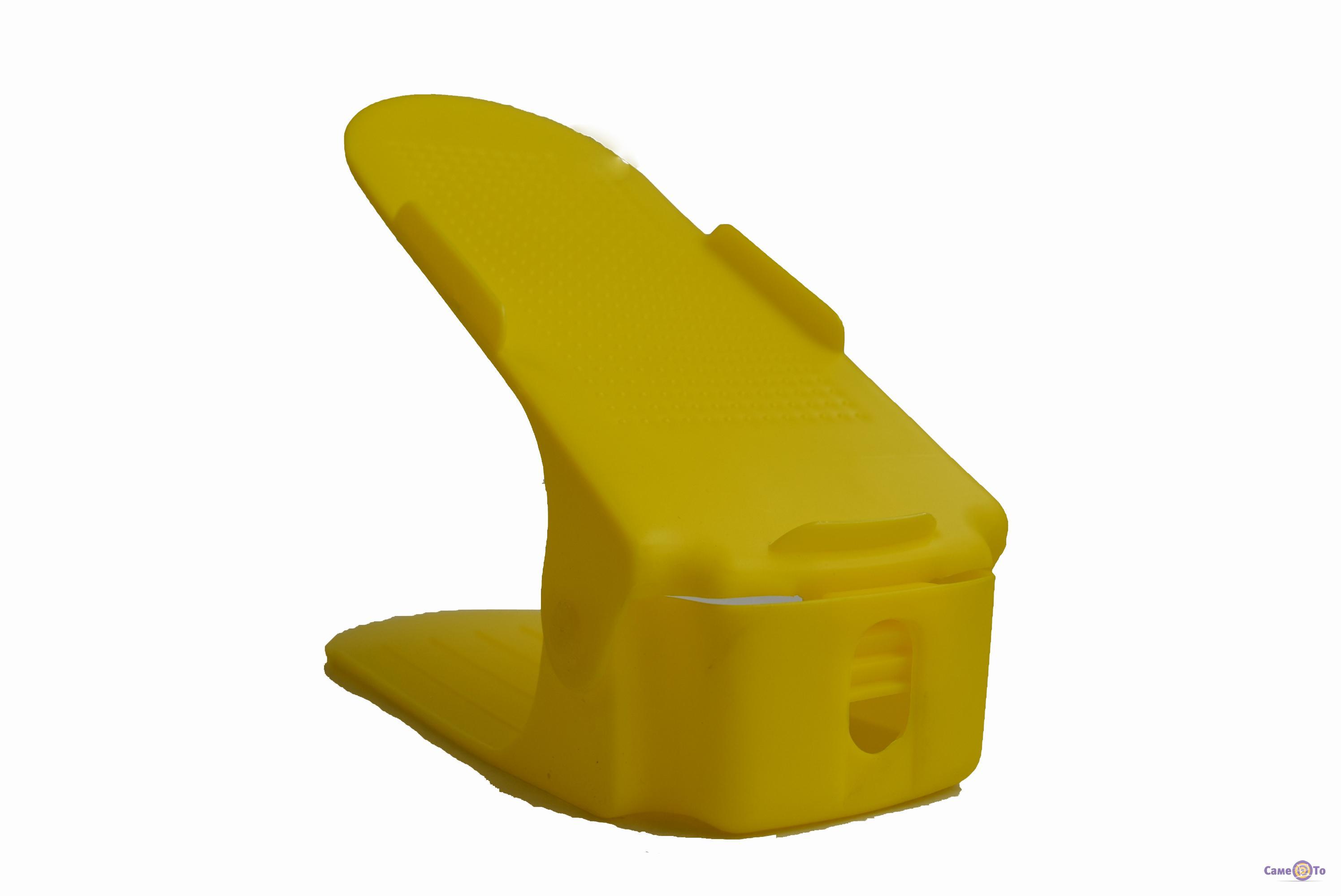 Двойная пластиковая стойка-подставка для хранения обуви