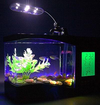 USB аквариум + органайзер, часы, термометр