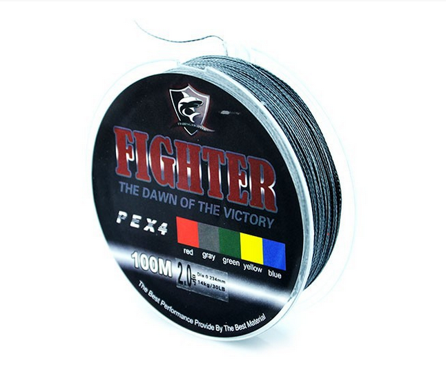 Плетеный шнур рыболовный Fighter Fishing Line (нить плетенка)