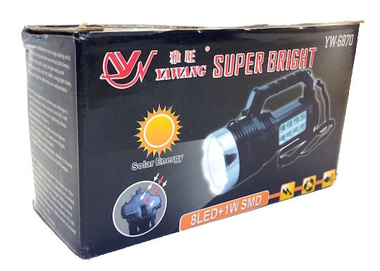 Фонарь на солнечной батарее Yawang YW 6870