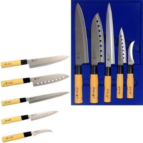 Набор кухонных ножей GOLD SUN F105A (5 предметов)