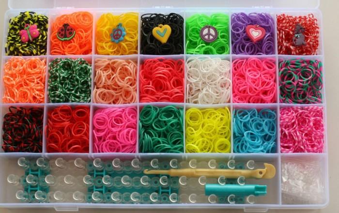 Резинки для браслетов loom bands набор
