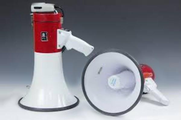 Мегафон рупор SD-10SH с микрофоном и сиреной