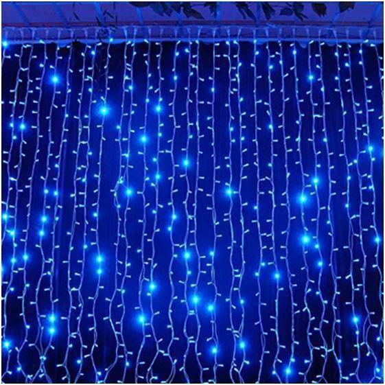 Новогодняя уличная гирлянда Дождь 720 Led синяя