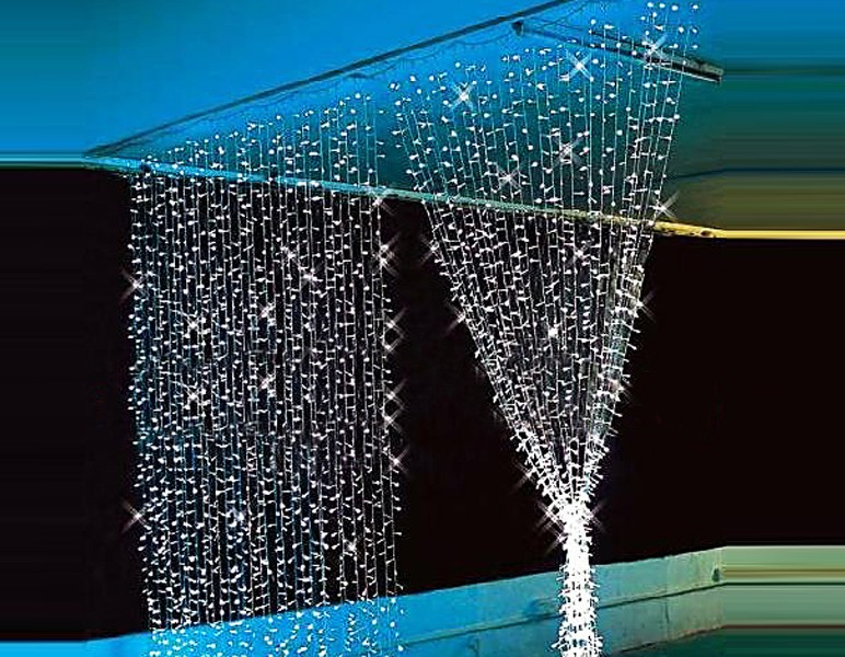 Гирлянда Занавес уличная 120 LED новогодняя