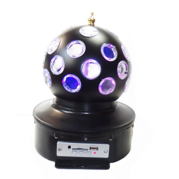 Диско шар Music Ball K1 светодиодный вращающийся