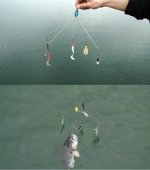 Приманка-поводок для рыбалки Алабама (имитация стайки рыб)