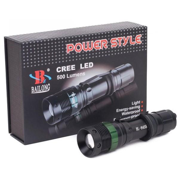 Фонарь аккумуляторный Bailong BL-8455-CREE Police 3000W