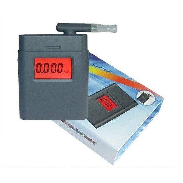 Цифровой алкотестер LCD ALT-17S с мундштуками