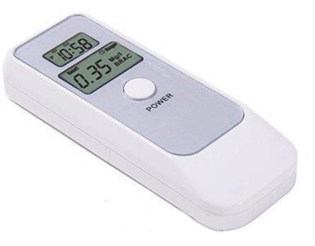 Цифровой алкотестер с LCD часами 1000198
