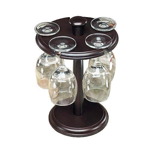 Держатель бокалов с 4 бокалами и штопором (1000020)