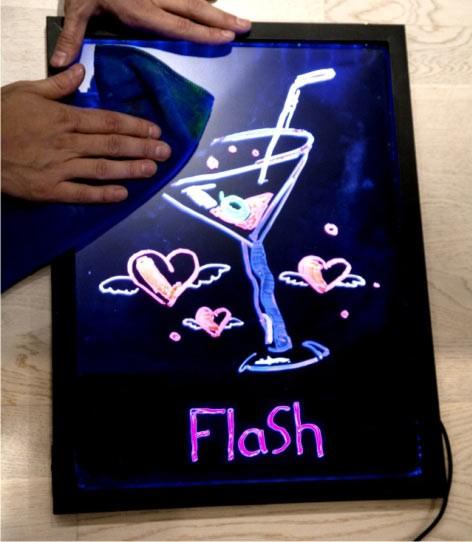 Светодиодная Флеш Доска Парклбоард LED 40х60 см