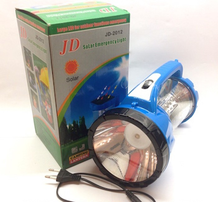 Кемпинговый фонарь на солнечной батарее JD-2012