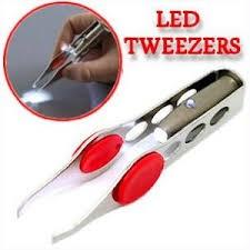 Пинцет для бровей с подсветкой LED Tweezers