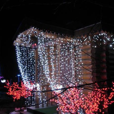 Гирлянда дождь на 480 лампочек 3х2.5м. Светодиодный занавес
