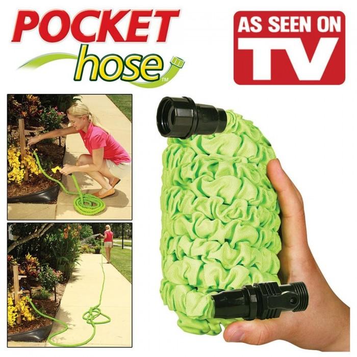 Шланг гармошка Pocket Hose 22.5 м. гофрированный