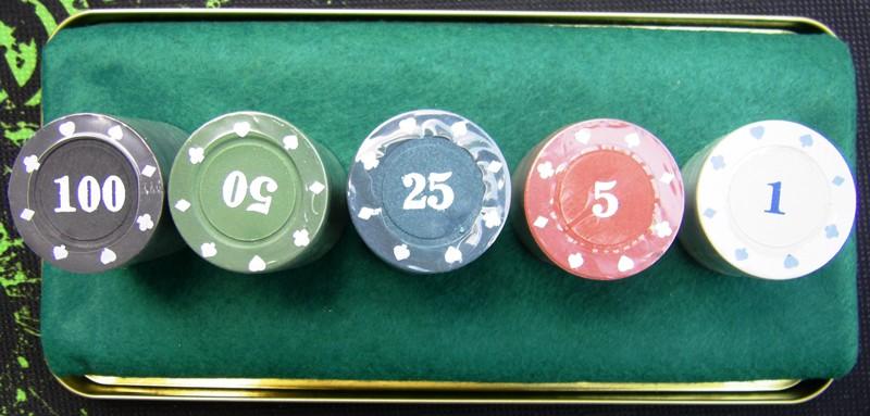 Покерный набор 200 фишек в металлической коробке