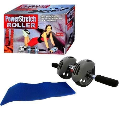 Тренажер колесо для пресса с ковриком «Гимнастический ролик»