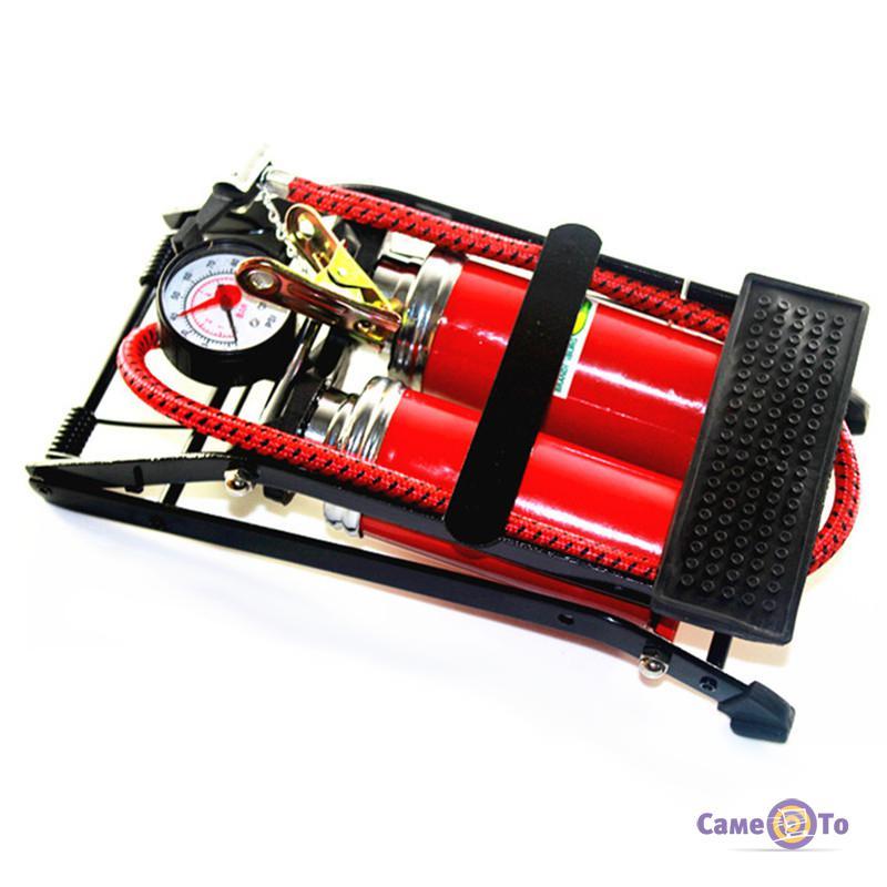 Ножний двупоршневий насос для шин автомобіля з манометром CC-100A ... 99adba1592553