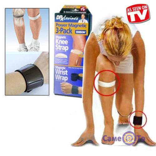 Магнитные повязки на запястье, колено Power Magnetic 3-Pack