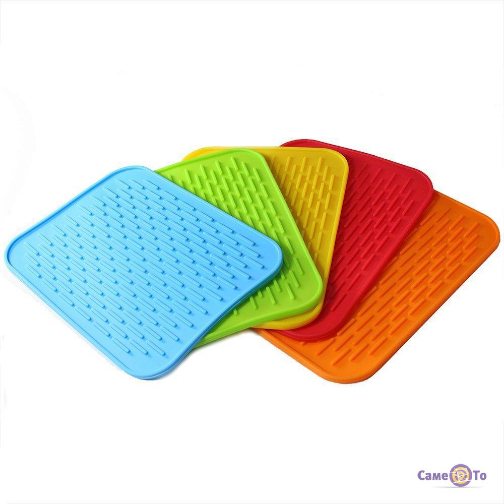 Силиконовый коврик для сушки посуды 22х16 см.