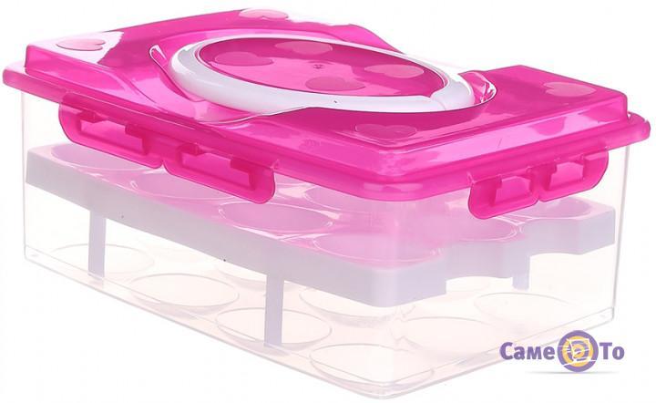 Лоток пластиковый -  контейнер для хранения яиц, на 24 шт
