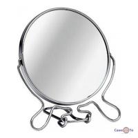 Настільне косметичне дзеркало на підставці, двостороннє збільшувальне Two-Side Mirror 19 см