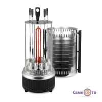 Вертикальна електрошашличниця на 5 шампурів