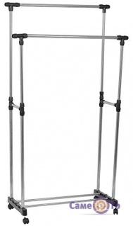Подвійна телескопічна стійка для одягу Double-Pole Clothes-horse TM-0032