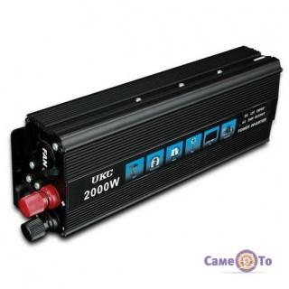 Инвертор преобразователь UKC Inverter I-Power SSK 2000W