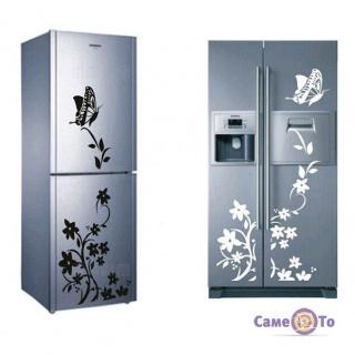 Наклейки на холодильник Квіти і Метелики - різні кольори!