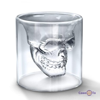 Стакан з 3D черепом Doomed - оригінальний алко-подарунок!