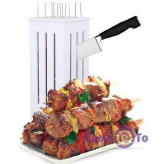 Форма для нарезки мяса и нанизывания шашлыка Brochette Express
