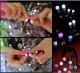 Сяючі LED сережки гвоздики (кольори в асортименті)