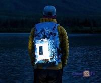 Надувной фонарь на солнечной батарее туристический Lumin